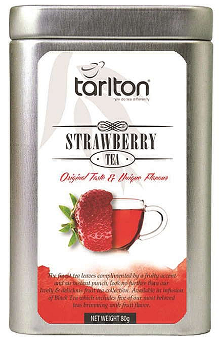 TARLTON Black Strawberry Fruit 80g, plechová krabička