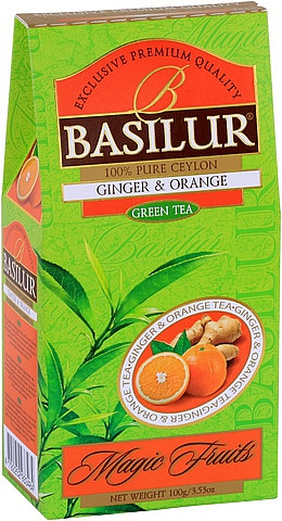 BASILUR Magic Green Ginger & Orange 100g, papírový obal