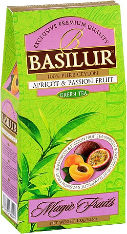BASILUR Magic Green Apricot & Passion 100g, papírový obal