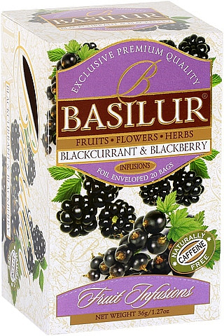 BASILUR Fruit Blackcurrant & Blackberry 20x1,8g sáčků