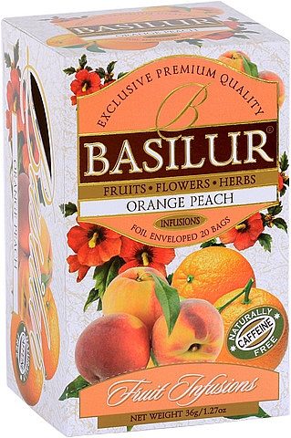 BASILUR Fruit Infusion Orange Peach 20x1,8g sáčků