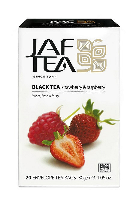 JAFTEA Black Strawberry & Raspberry 20x1,5g sáčků