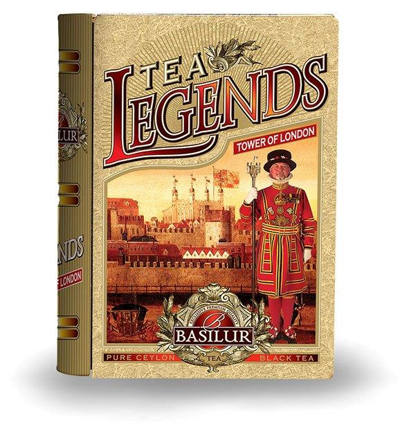 BASILUR Book Legends Tower of London 100g, plechová krabička - kniha