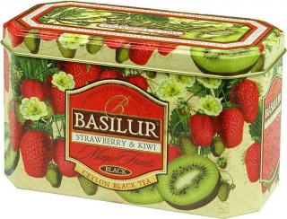 BASILUR Magic Strawberry & Kiwi 20x2g, plechová krabička
