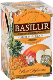 BASILUR Fruit Infusion Caribbean Cocktail 20x1,8g sáčků
