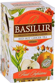 BASILUR Fruit Infusion Red Hot Ginger 20x1,8g sáčků