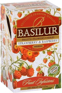 BASILUR Fruit Strawberry & Raspberry 20x1,8g sáčků